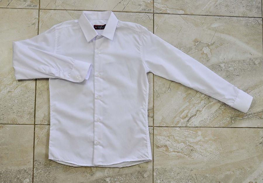 Рубашка школьная белого цвета для мальчика, IKORAS
