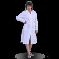 Халат рабочий женский (белый), медицинская одежда