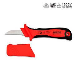 Нож кабельный изолированный 1000V VDE с прямым лезвием  TOPTUL SFAA5020V4