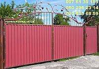 Ворота закрытые профнастилом 6540