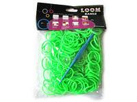 Резинки для плетения Ярко-зеленый Rainbow Loom Bands 200шт/уп