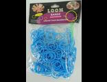 Резинки для плетения Голубой светлый Rainbow Loom Bands 200шт/уп