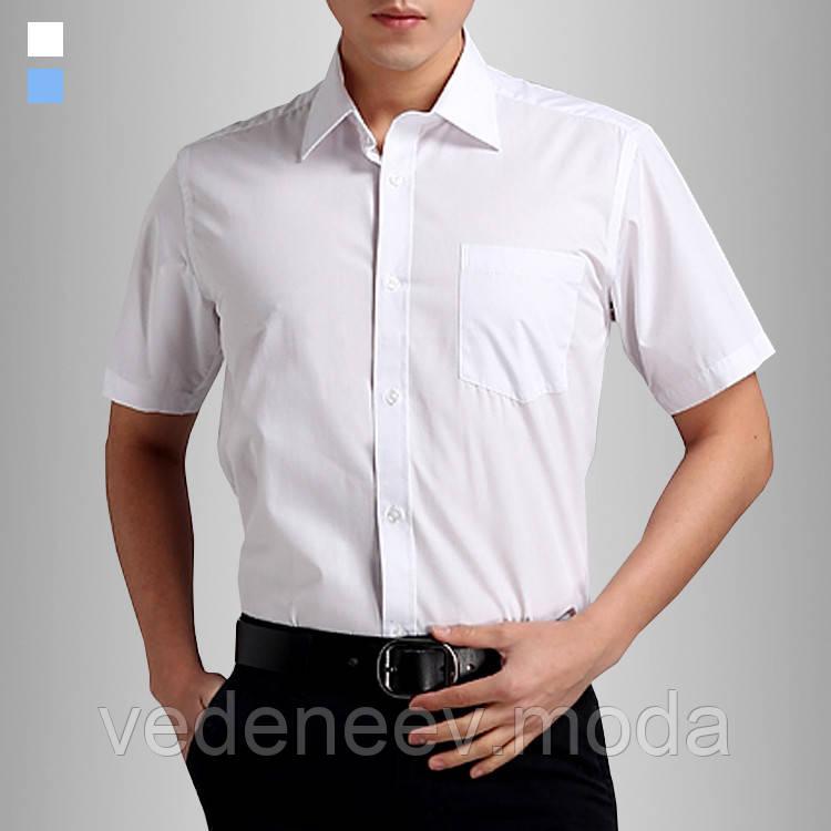 df95be91527ea80 Белая мужская рубашка 100% хлопок. с коротким рукавом, цена 649 грн.,  купить в Киеве — Prom.ua (ID#102026415)