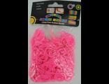 Резинки для плетения Розовый яркий Rainbow Loom Bands 200шт/уп