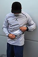 Мужской анорак/ветровка/куртка на весну/осень джордан (Jordan 23), серая реплика, фото 1