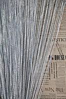 Нитяные шторы Лапша дождик № 07 серебро