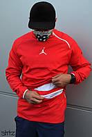 Мужской анорак/ветровка/куртка без застежки/молнии джордан (Jordan 23) реплика, фото 1