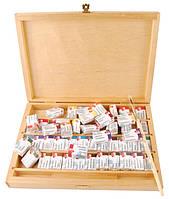 Подарочный набор акварельных красок в березовой коробке, Белые Ночи (48 кюветов)