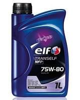 Трансмиссионное масло в механическую коробку передач МКПП и редукторов ELF TRANSELF NFP 75W80 1L