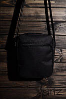 Молодежная сумка на плечо/мессенджер/барсетка, черная реплика, фото 1