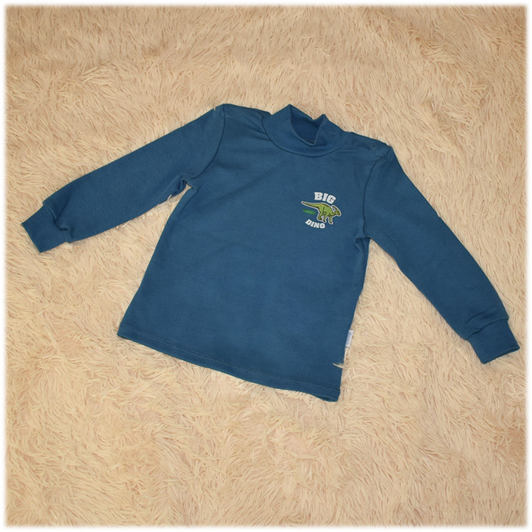 Кофта гольф синий детский для мальчика ТМ Бемби размер 86