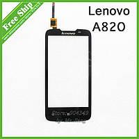 Сенсор (тачскрин) стекло для смартфона Lenovo A820 black orig
