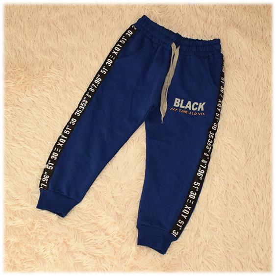 Штаны спортивные на мальчика синего цвета Турция размер 104