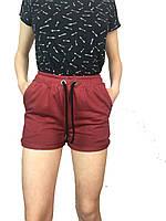 Трикотажные шорты для девушек,женщин,материал,,петля,,Турция р-р 42-48.цвета:бордо,бутылка,светло-серый