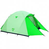Палатка туристическая 3-х местная Bestway 68046, размер (70+200+70)*180*125 см, антимоскитная сетка, сумка