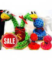 Мягкая игрушка-копилка Змея 25 см 1253-62