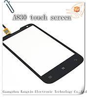 Сенсор (тачскрин) стекло для смартфона Lenovo A830black orig