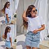 Легкая летняя женская футболка свободного кроя со шнуровкой. Арт-2612/23