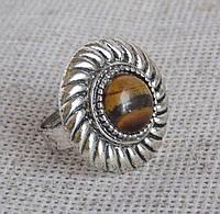 Кольцо с тигровым глазом. Недорогие кольца