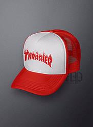 Спортивная кепка Thrasher, Трешер, тракер, летняя кепка, мужская, женская,красного цвета, копия