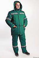 Утепленный рабочий костюм. Мужская спецодежда