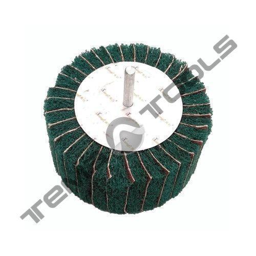 Круг лепестковый КЛО 100x50x6 скотч брайт SB Green Combi зачистной