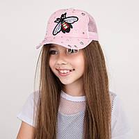 Стильная кепка для девочек - пчелка  (52-54)