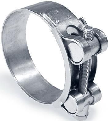 Хомут усиленный оцинкованный GBS 25-27 мм