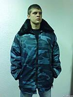 Куртка рабочая зимняя, камуфлированная, с меховым воротником
