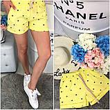 Женские красивые шорты яркие мята желтые коттон 42-46, фото 4