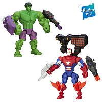 Набор разборных супергероев Халк и железный Патриот - Hulk, Iron Patriot, Mashers, Marvel, Hasbro