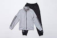 Костюм для девочки спортивный р.140.146 SmileTime Nice, серый с черным