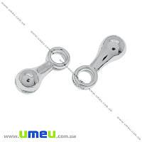 Концевик, 7х2,5 мм, Светлое серебро, 1 шт (ZAG-000475)