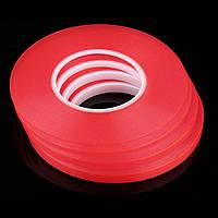 Скотч двухсторонний 3m 10мм красный акриловый длина 50м