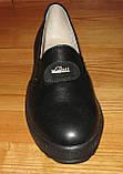 Туфли черные женские кожаные на среднюю ногу от производителя модель НТ5Р, фото 2