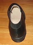 Туфли черные женские кожаные на среднюю ногу от производителя модель НТ5Р, фото 4