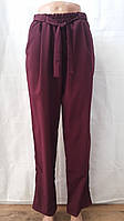 Летние женские брюки бордо