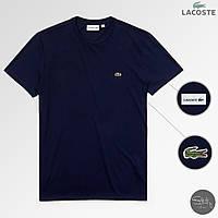 Стильная молодежная городская/спортивная мужская футболка с крокодилом лакост/Lacoste, реплика, фото 1
