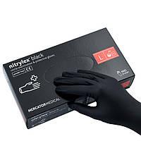 Перчатки Mercator Medical Nitrylex Black нитриловые нестерильные неприпудренные L Черные