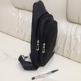 Молодежный повседневный рюкзак на одно плечо со слотом для гарнитуры, фото 3