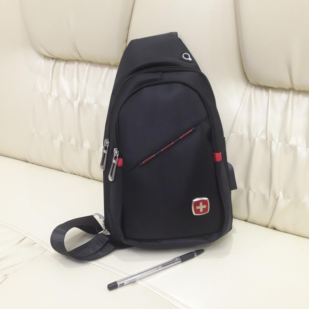 Молодежный повседневный рюкзак на одно плечо со слотом для гарнитуры