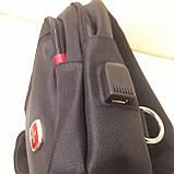 Молодежный повседневный рюкзак на одно плечо со слотом для гарнитуры, фото 2