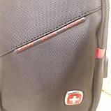 Молодежный повседневный рюкзак на одно плечо со слотом для гарнитуры, фото 7