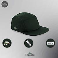 Мужская/женская зеленая пятипанельная кепка/пятиклинка лакост/Lacoste с крокодилом реплика, фото 1
