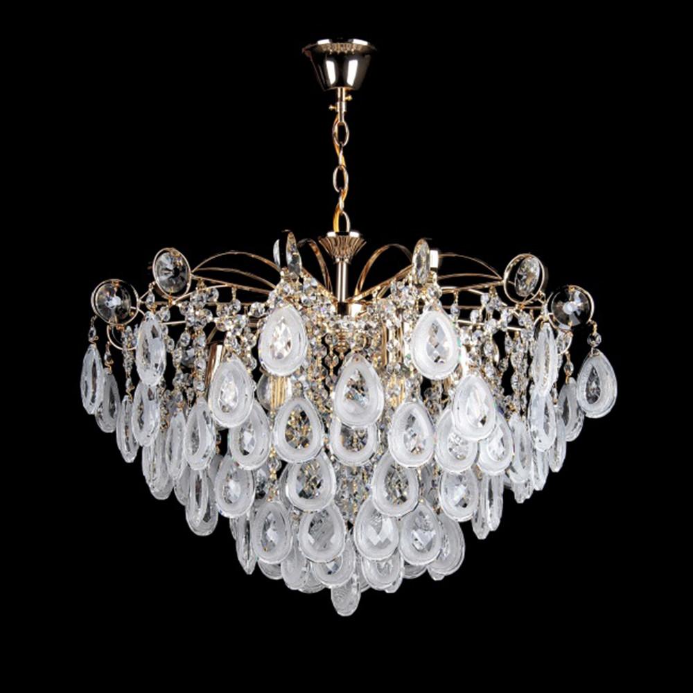 Хрустальная люстра СветМира на цепи на 6 лампочек (золото) VL-2473/6 (FG)