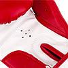Боксерські рукавиці PowerPlay 3004 JR Червоно-Білі 6 унцій, фото 5