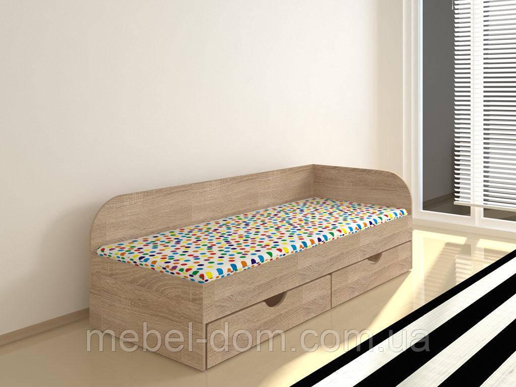 Односпальная кровать Соня-2 со спинкой и с выдвижными ящиками