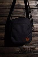 Мужская/женская сумка через плечо/мессенджер/барсетка канкен/Kanken, черная реплика, фото 1