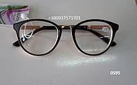 Стильные очки для зрения. Модель  0595 коричневый / молочный, фото 1