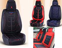 Модельные чехлы N 9D на передние и задние сиденья автомобиля KIA Rio 2 поколение 2005 -2011